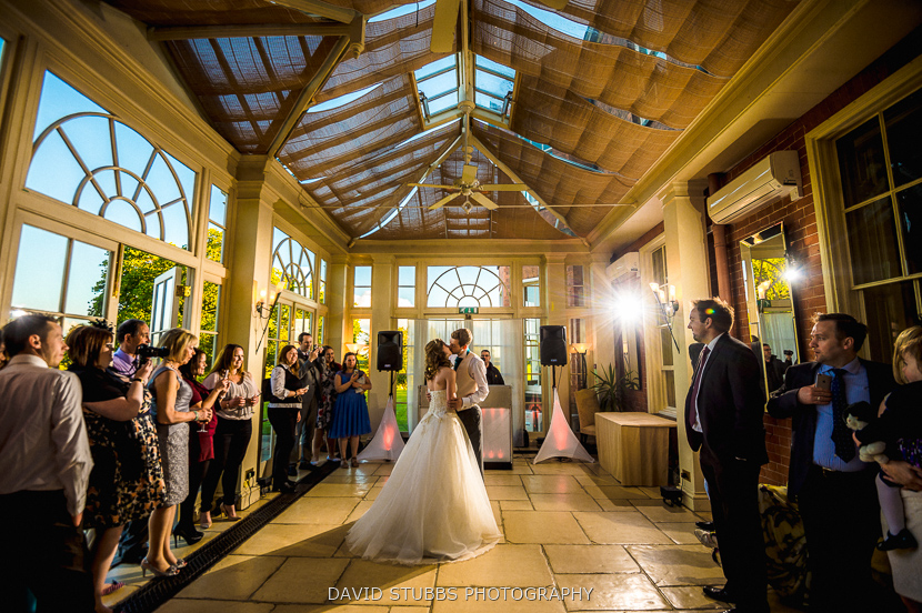 first dance at dovecliff hall hotel