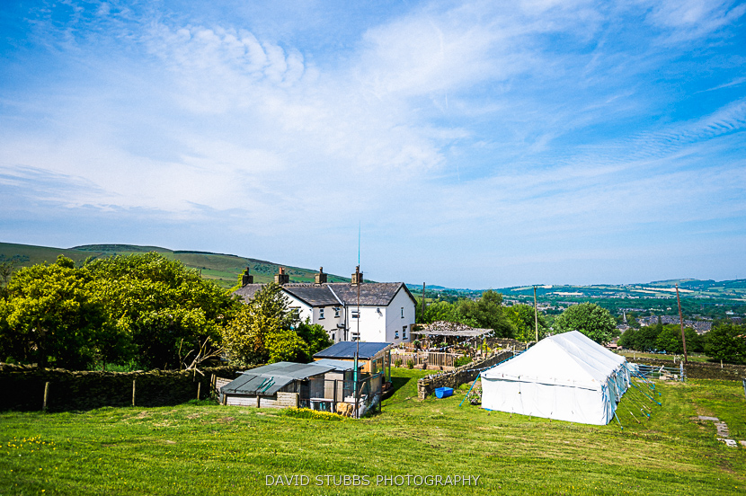 view over house and marquee