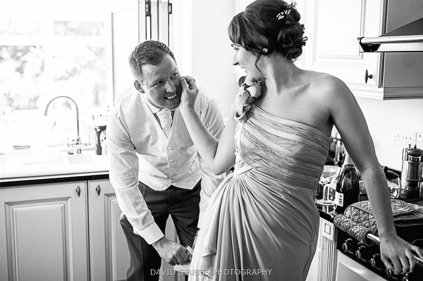 man and bridesmaid