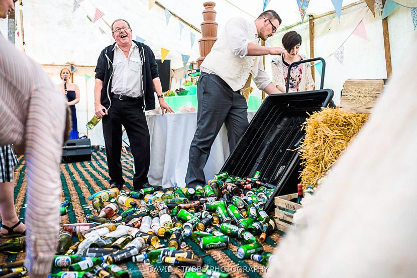 beer bottles on the floor