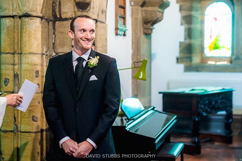 groom sees wife