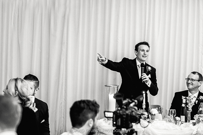 best man pointing