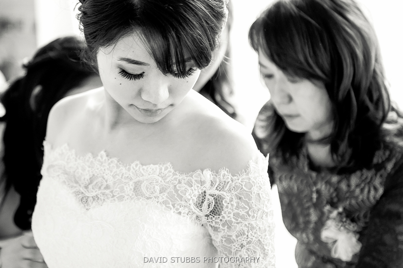close up of bride to be