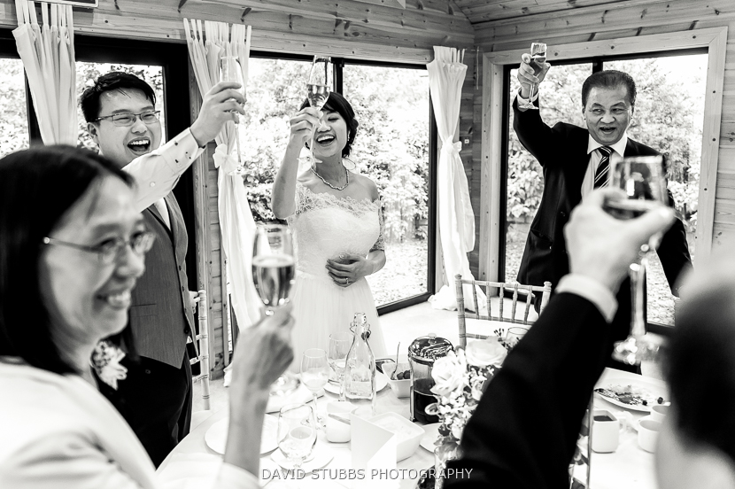 newly married couple toast