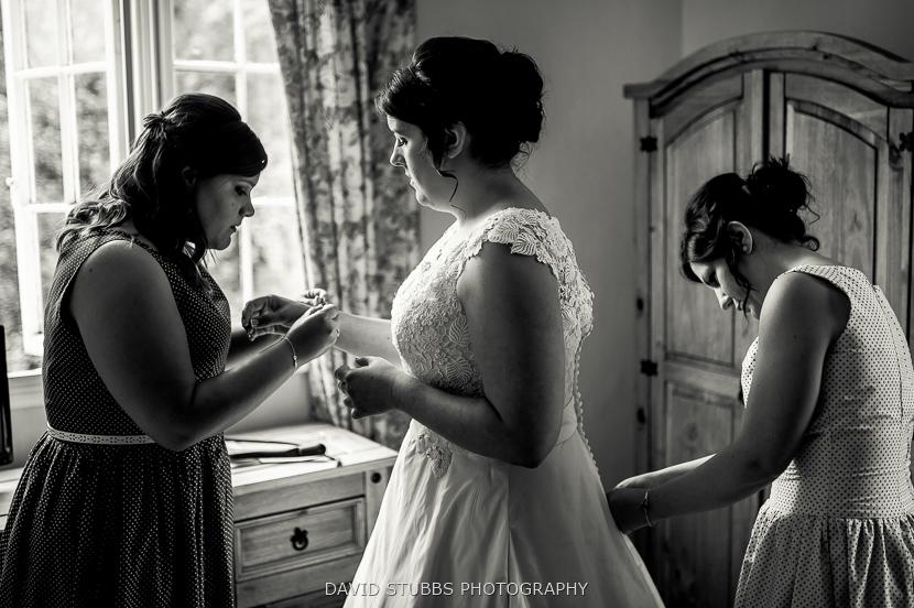 bridesmaids before ceremony