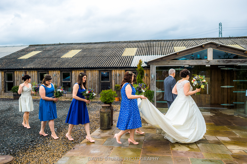 bridal party going into venue