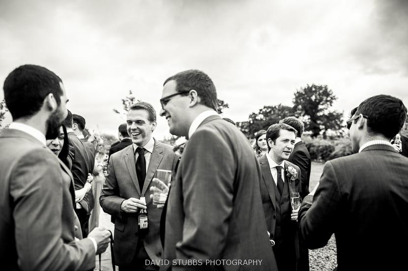 men drinking and celebrating