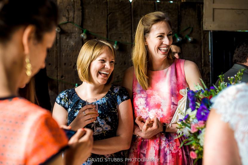 women in barn colour