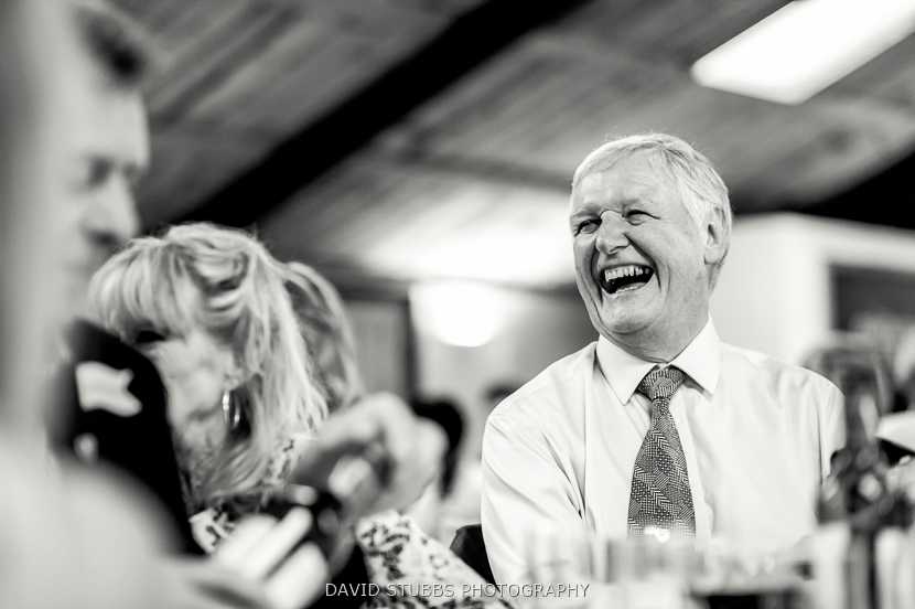 man laughter black and white