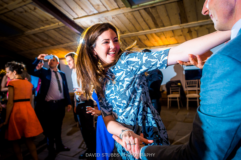 woman dancing in barn