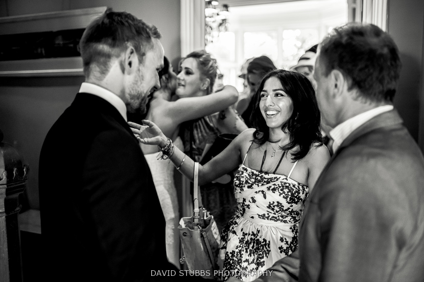 guests celebrate after ceremony