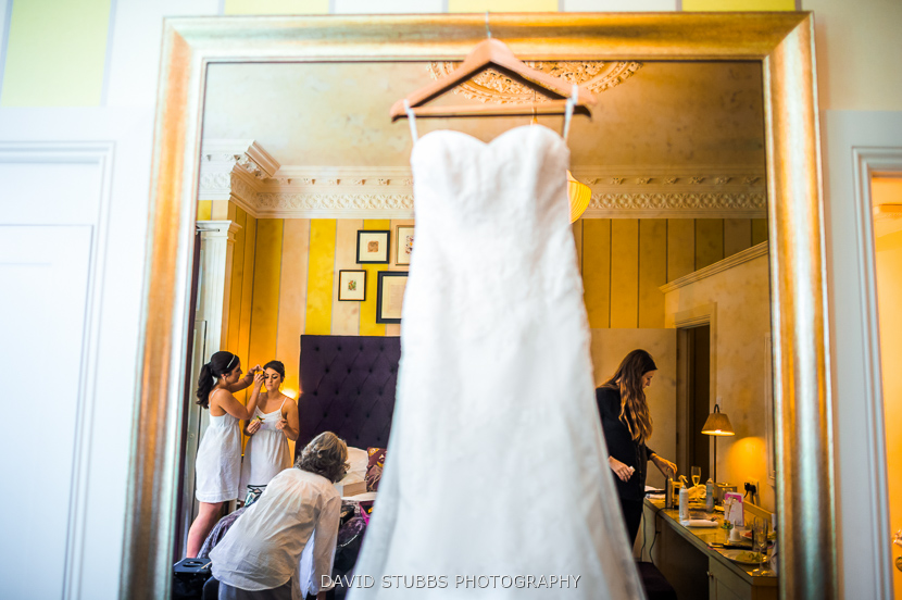 white dress and women getting dressed