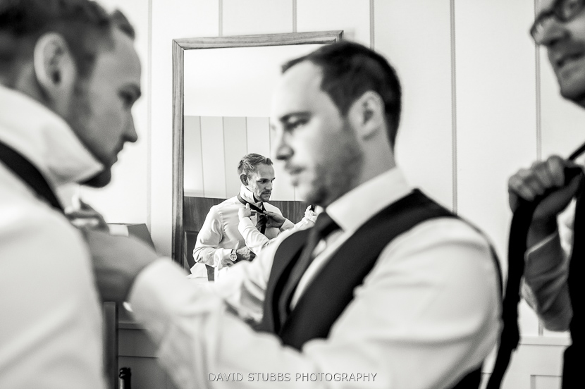 groom and friends black and white