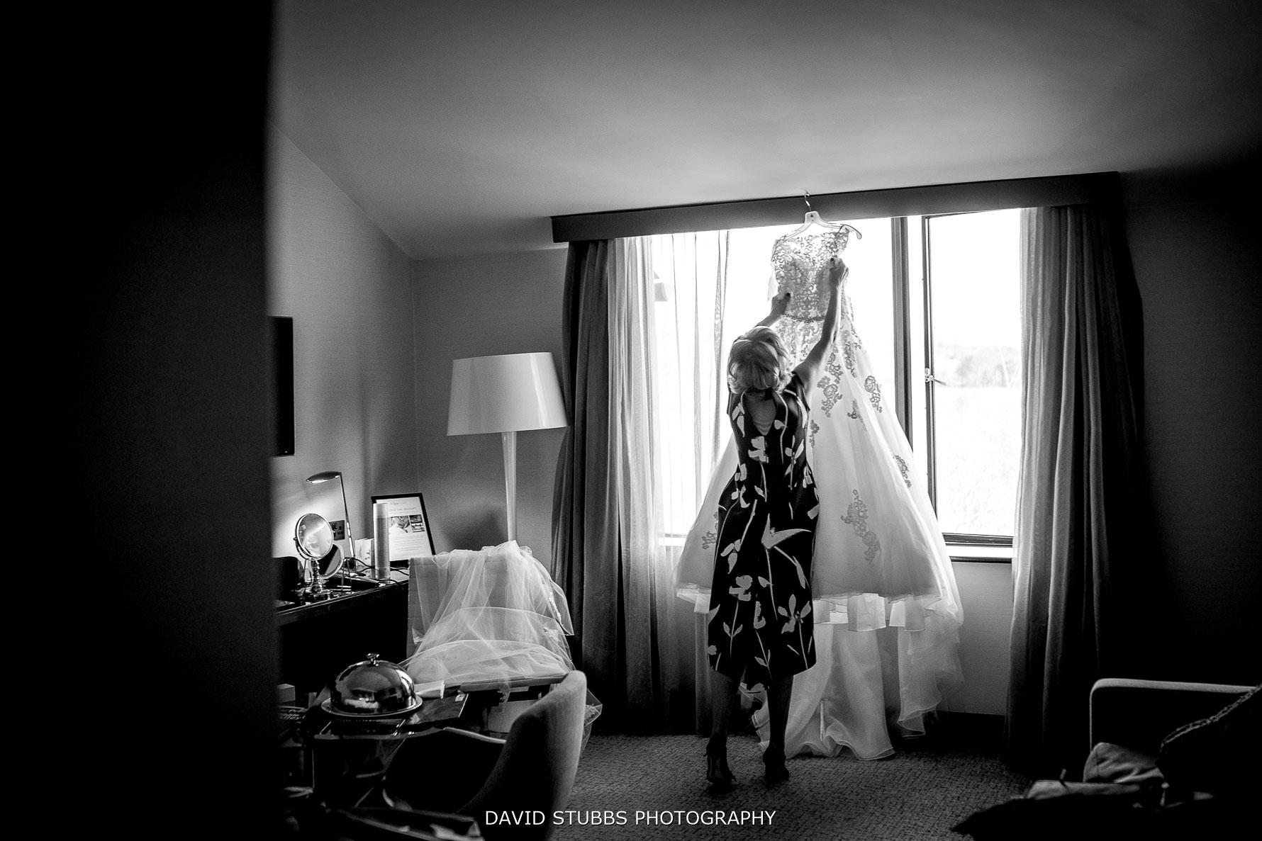 taking the wedding dress down