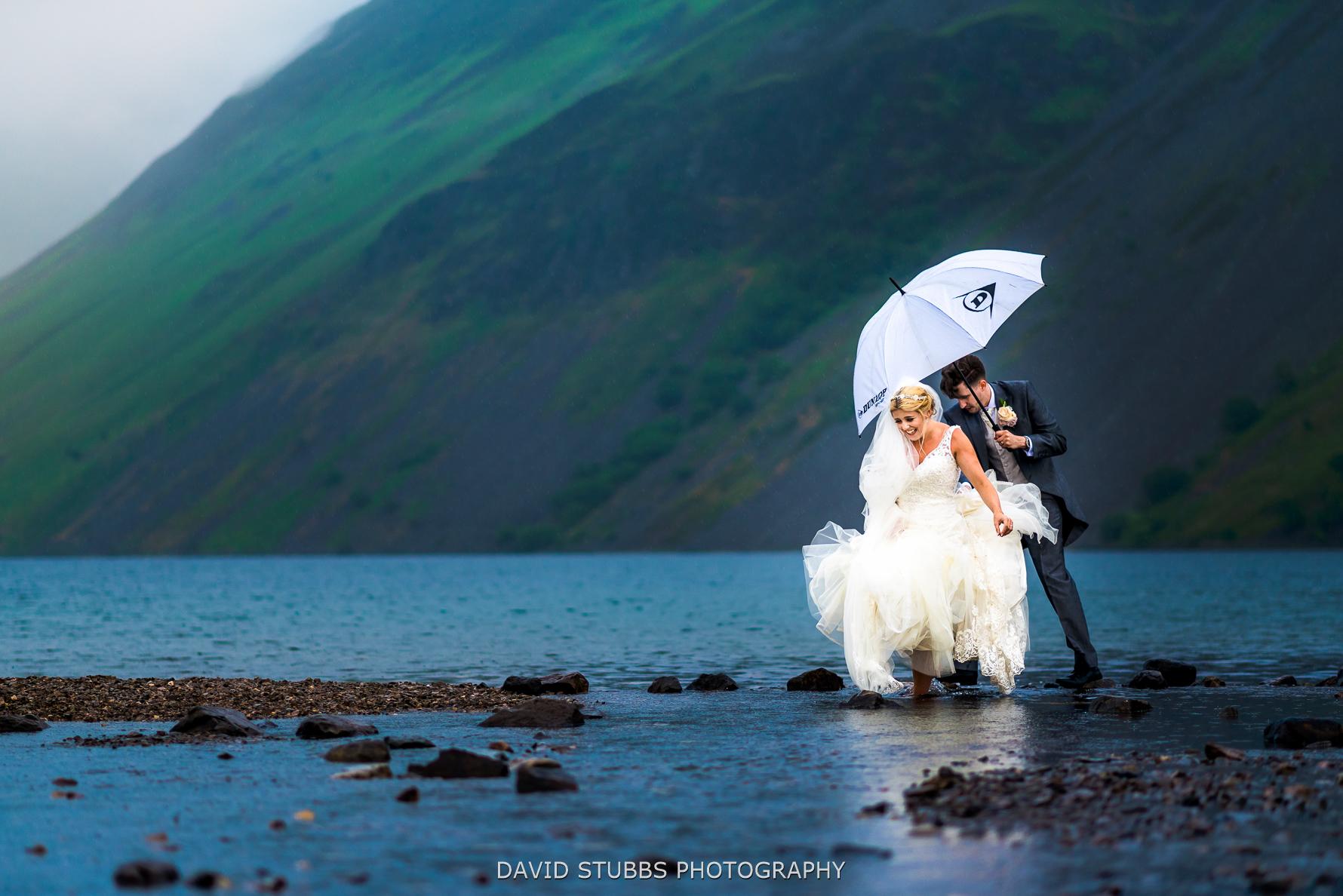 wedding photo taken at wast water
