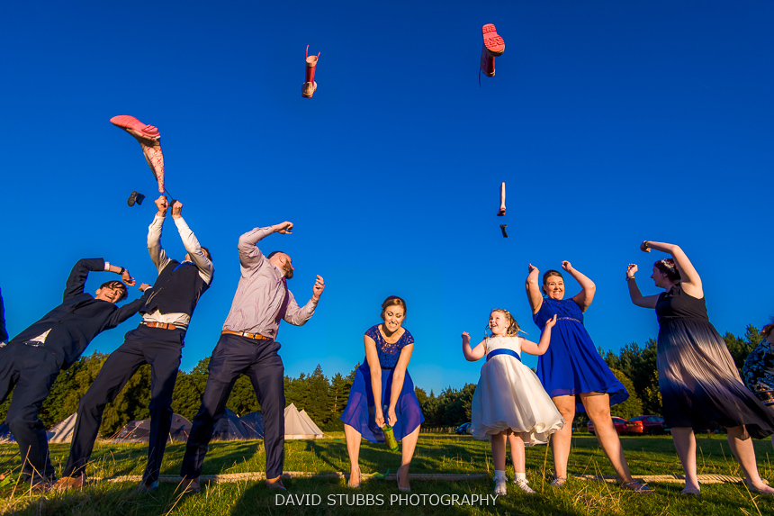 welly wanging at wedding