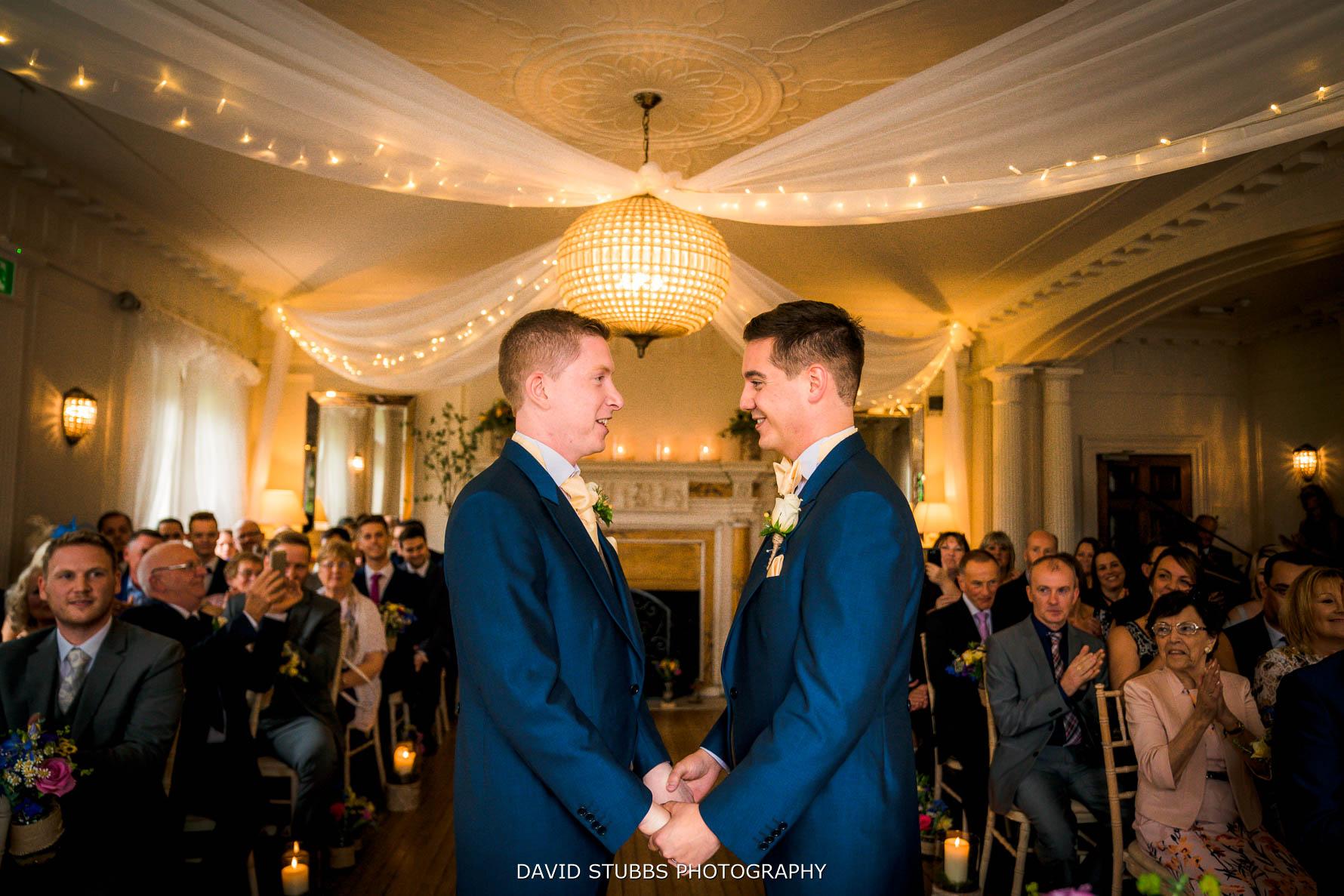gay wedding same sex eaves hall