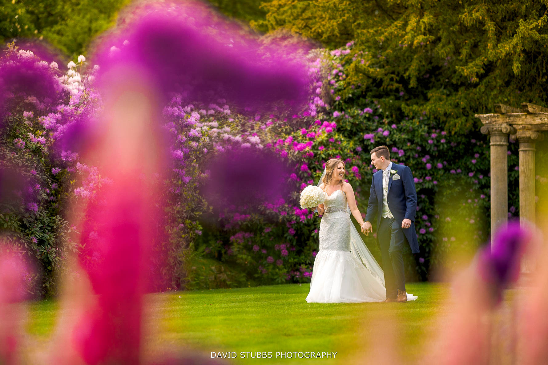 wedding photo in vibrant colour