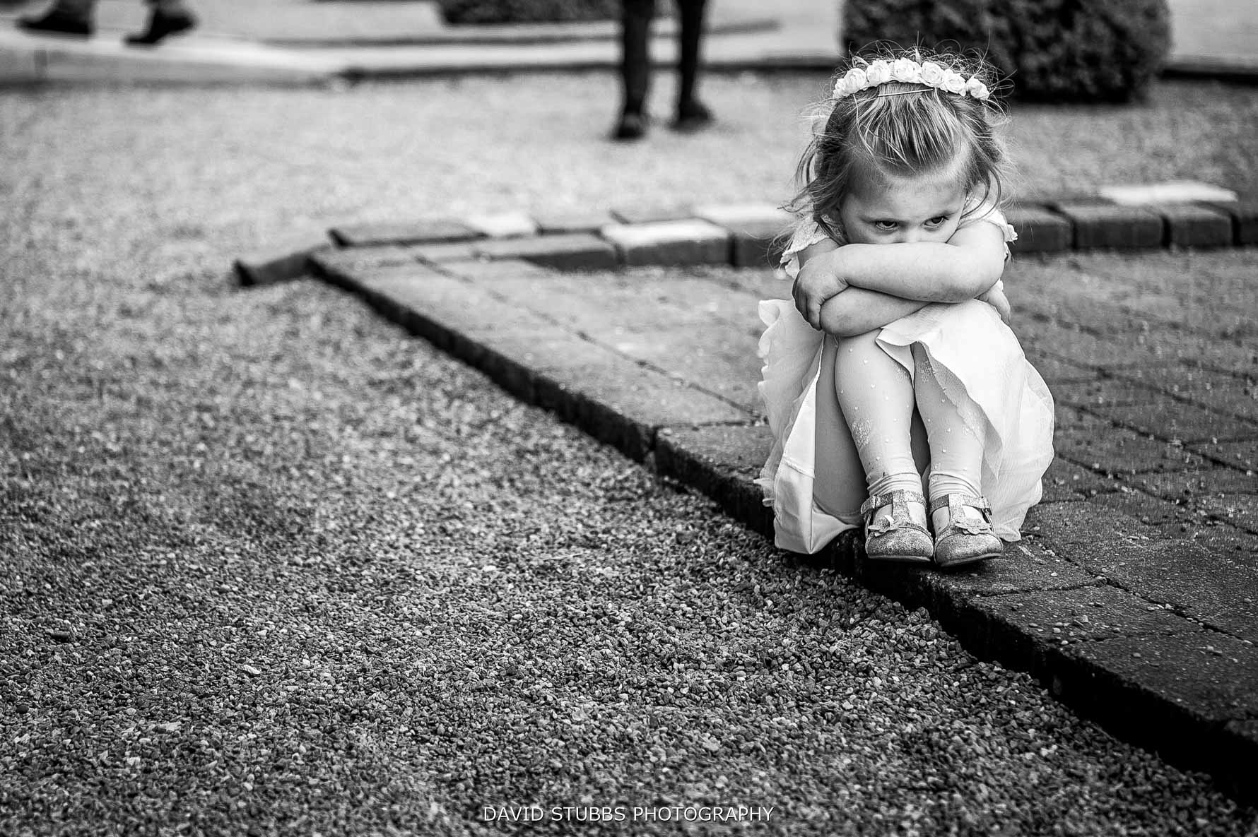 girl sulking