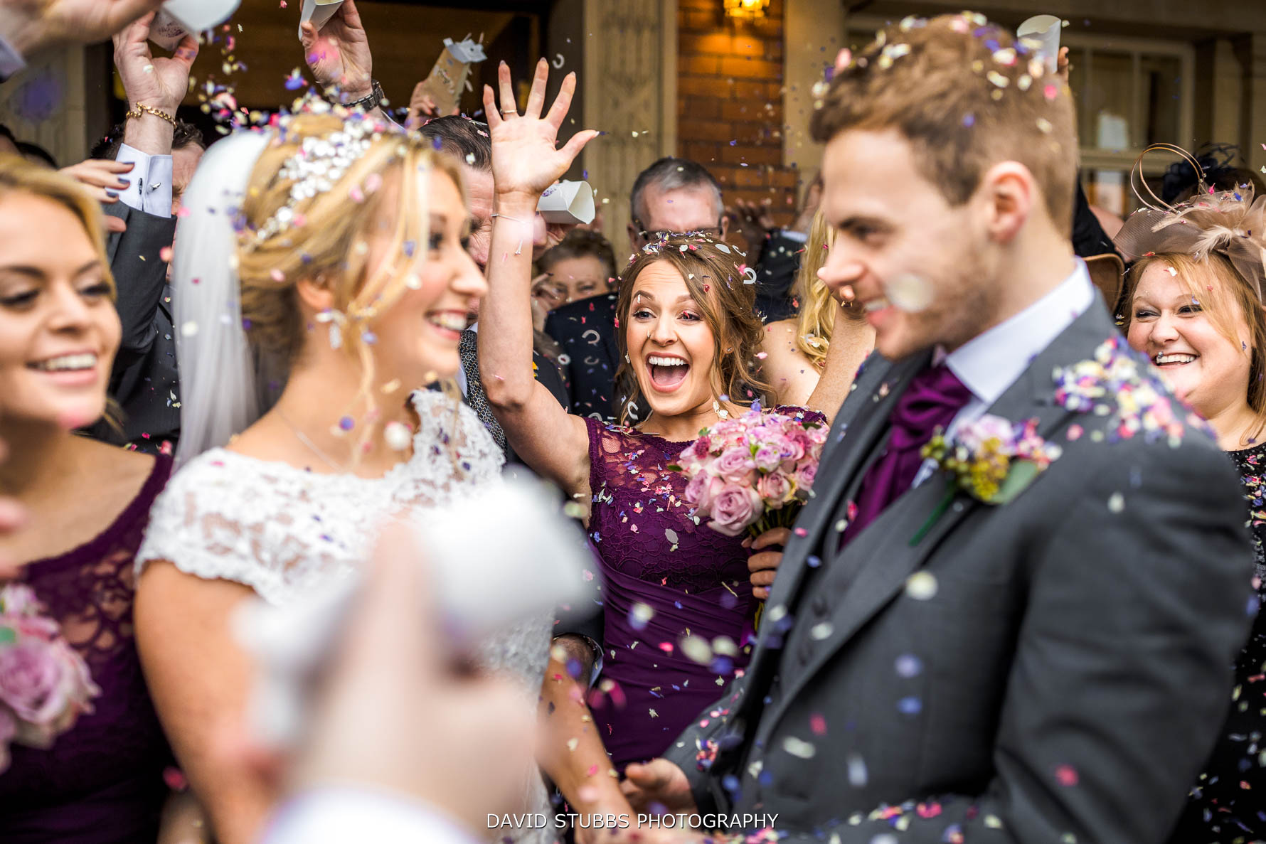 bridesmaid reaction to confetti