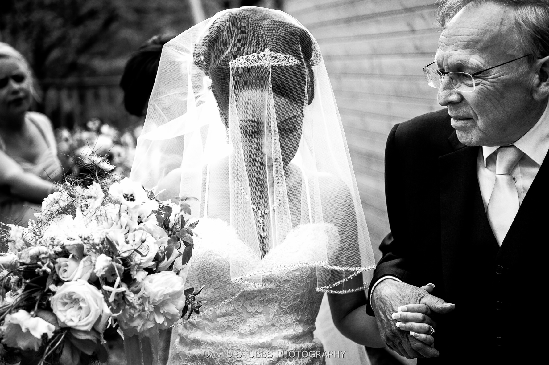 black and white veil photo