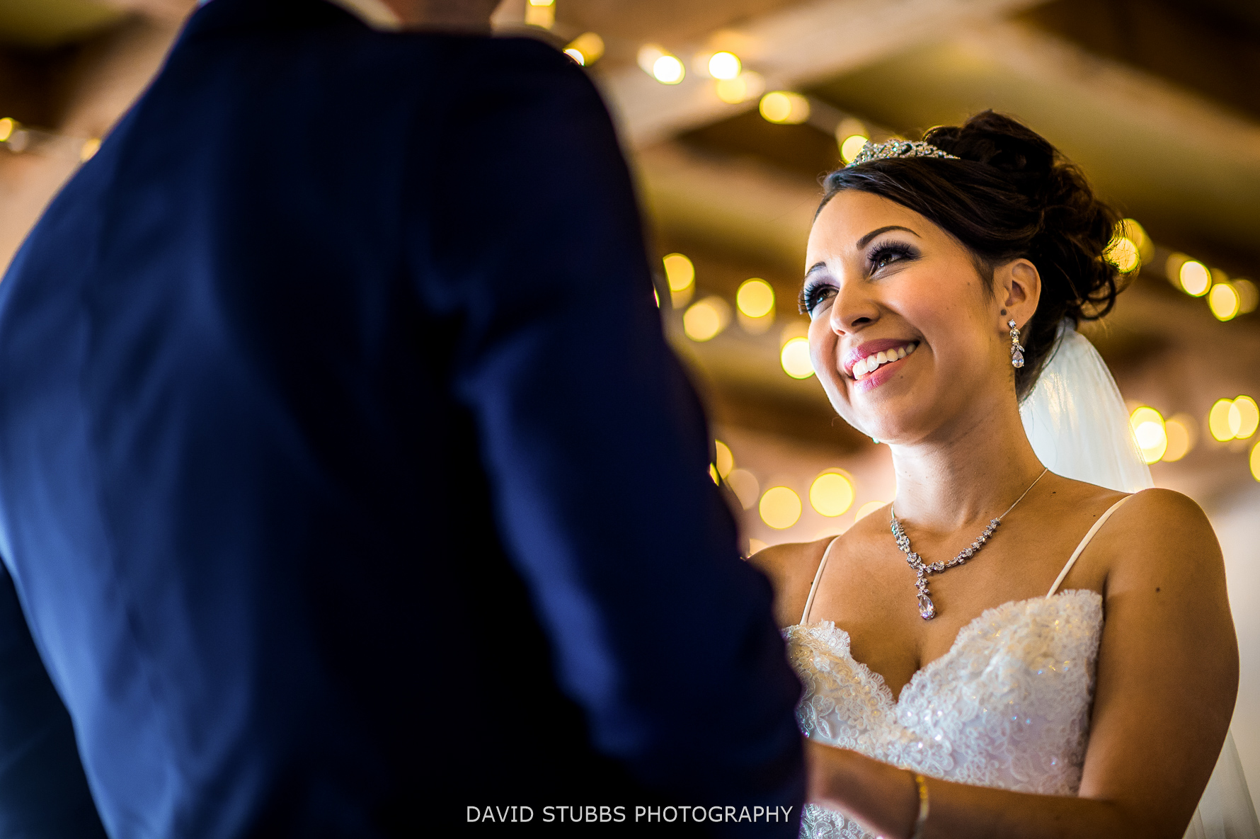 wedding ceremony from low angle