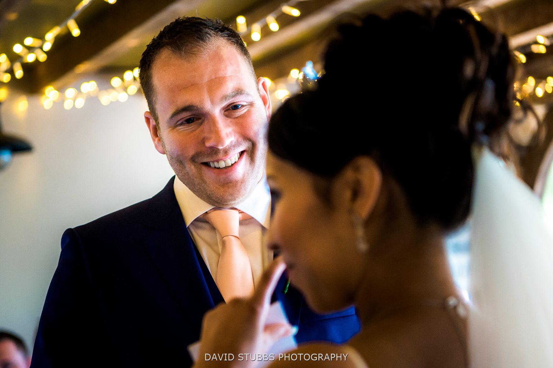 groom happy at his new wife