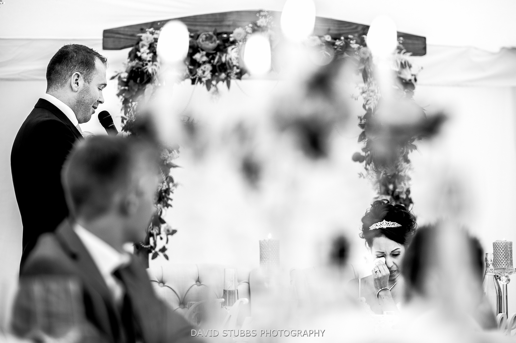groom saying nice words about his bride