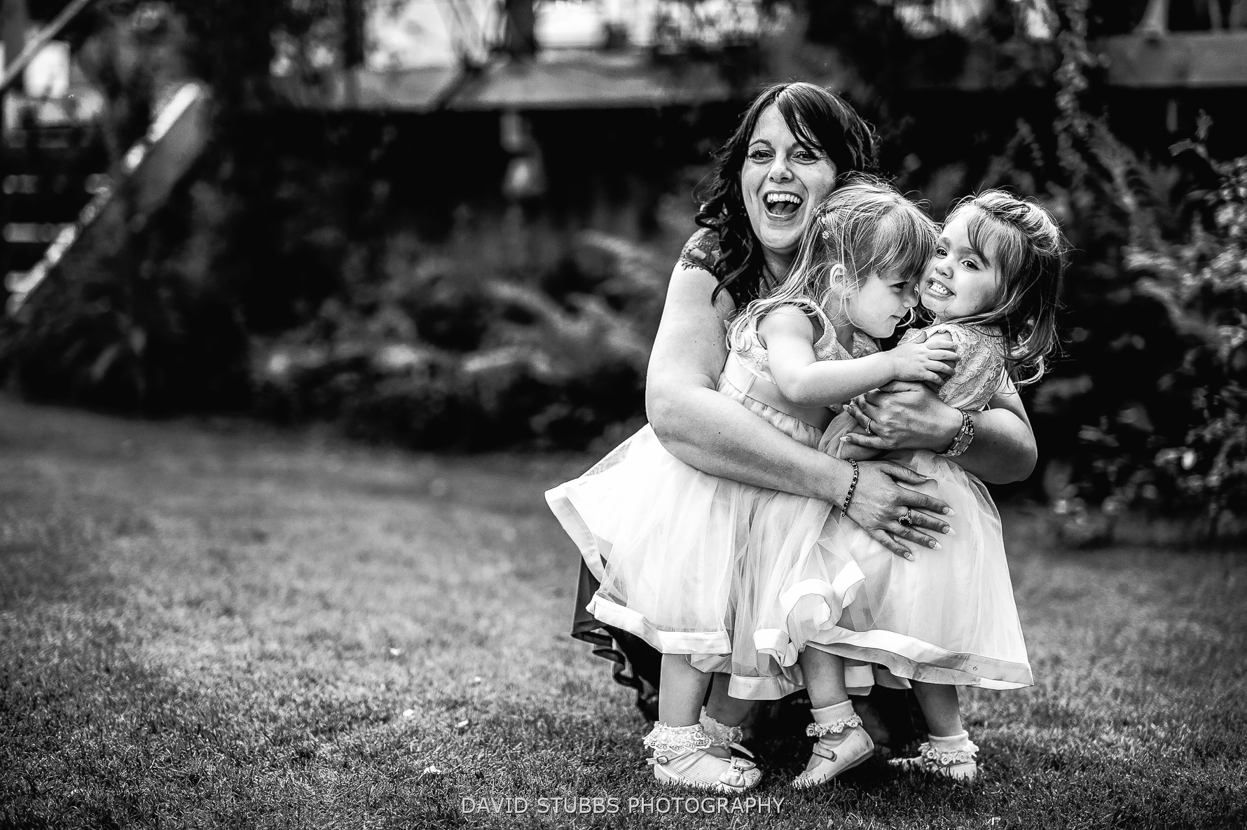 hugging the girls
