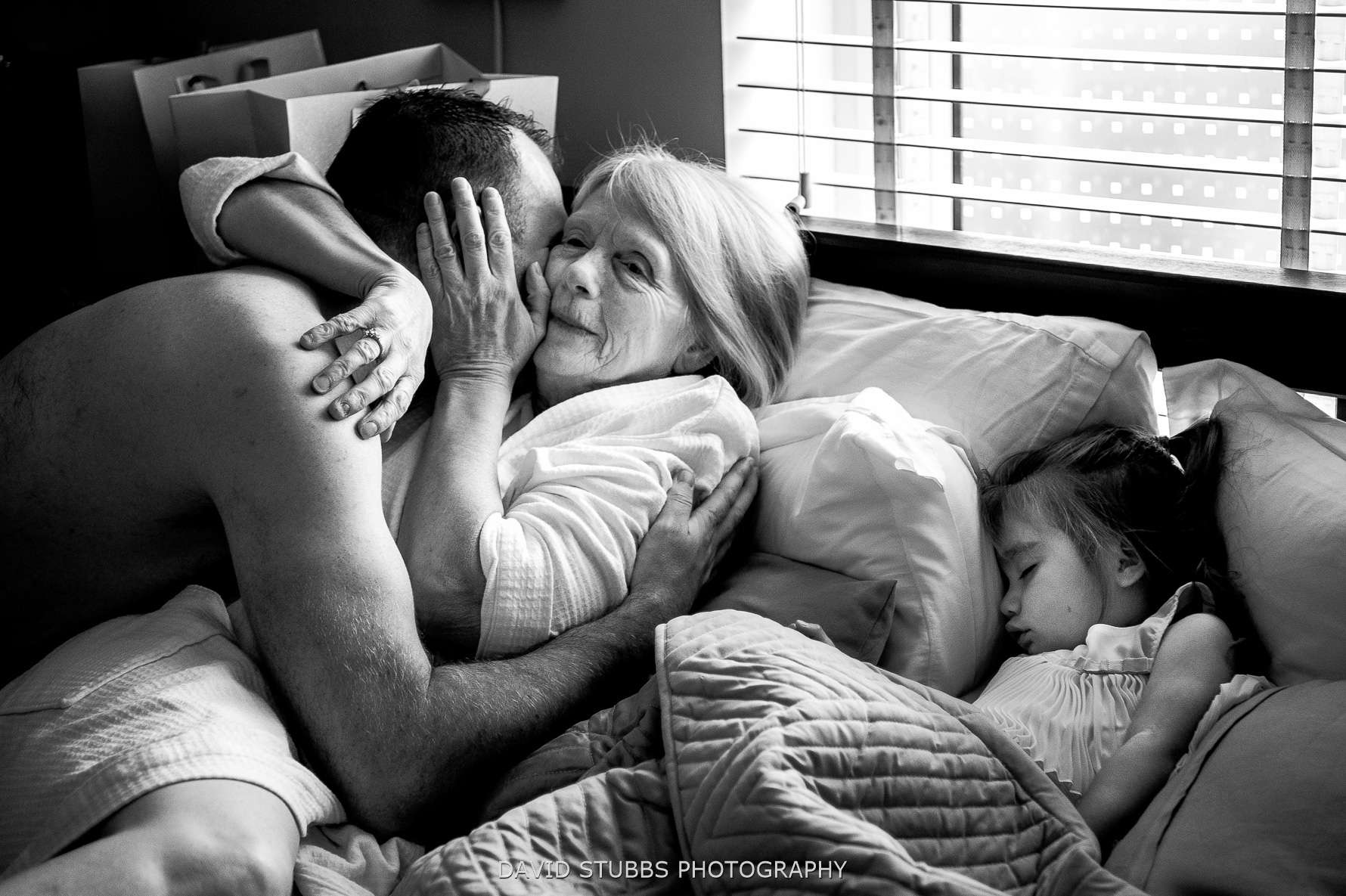 giving mum hugs