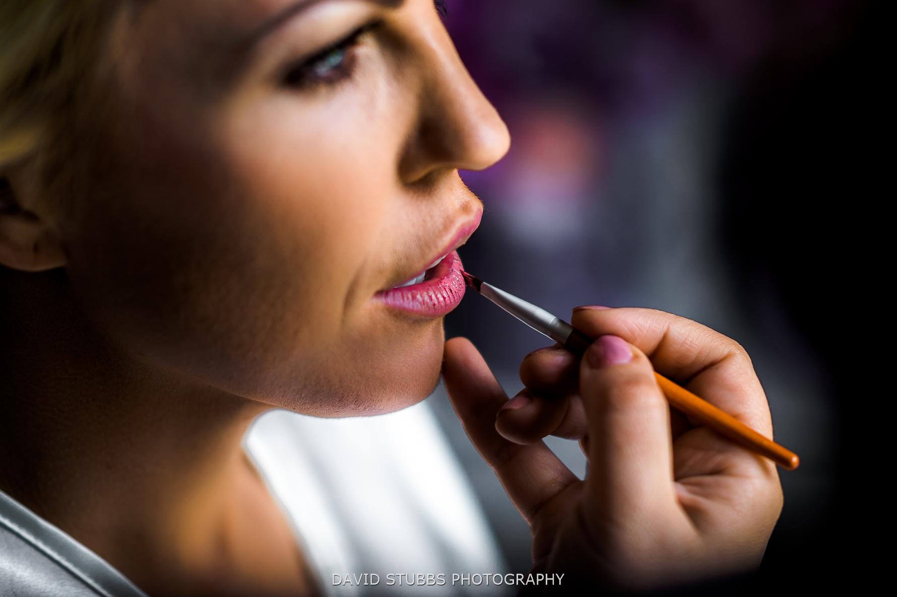 lipstick applied