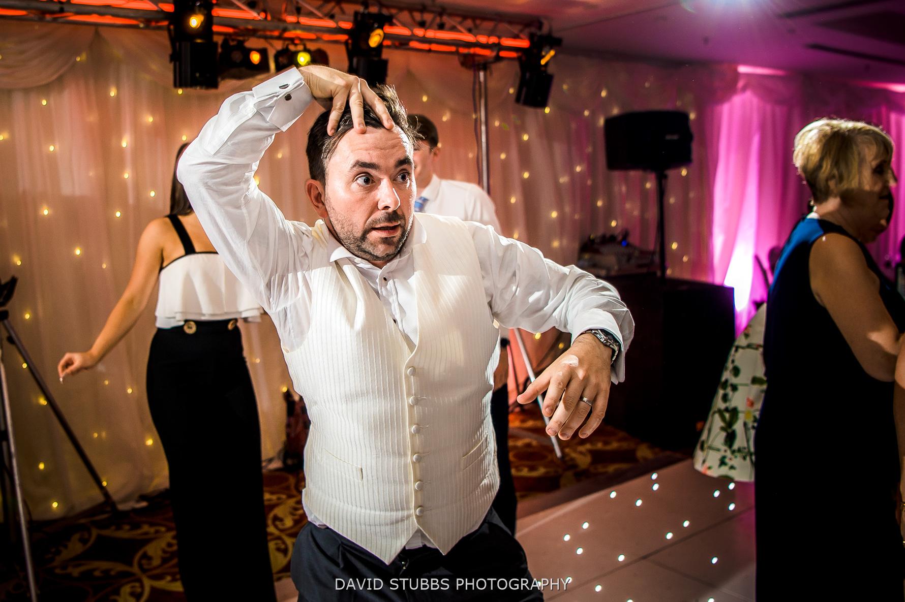 crazy groom in hotel