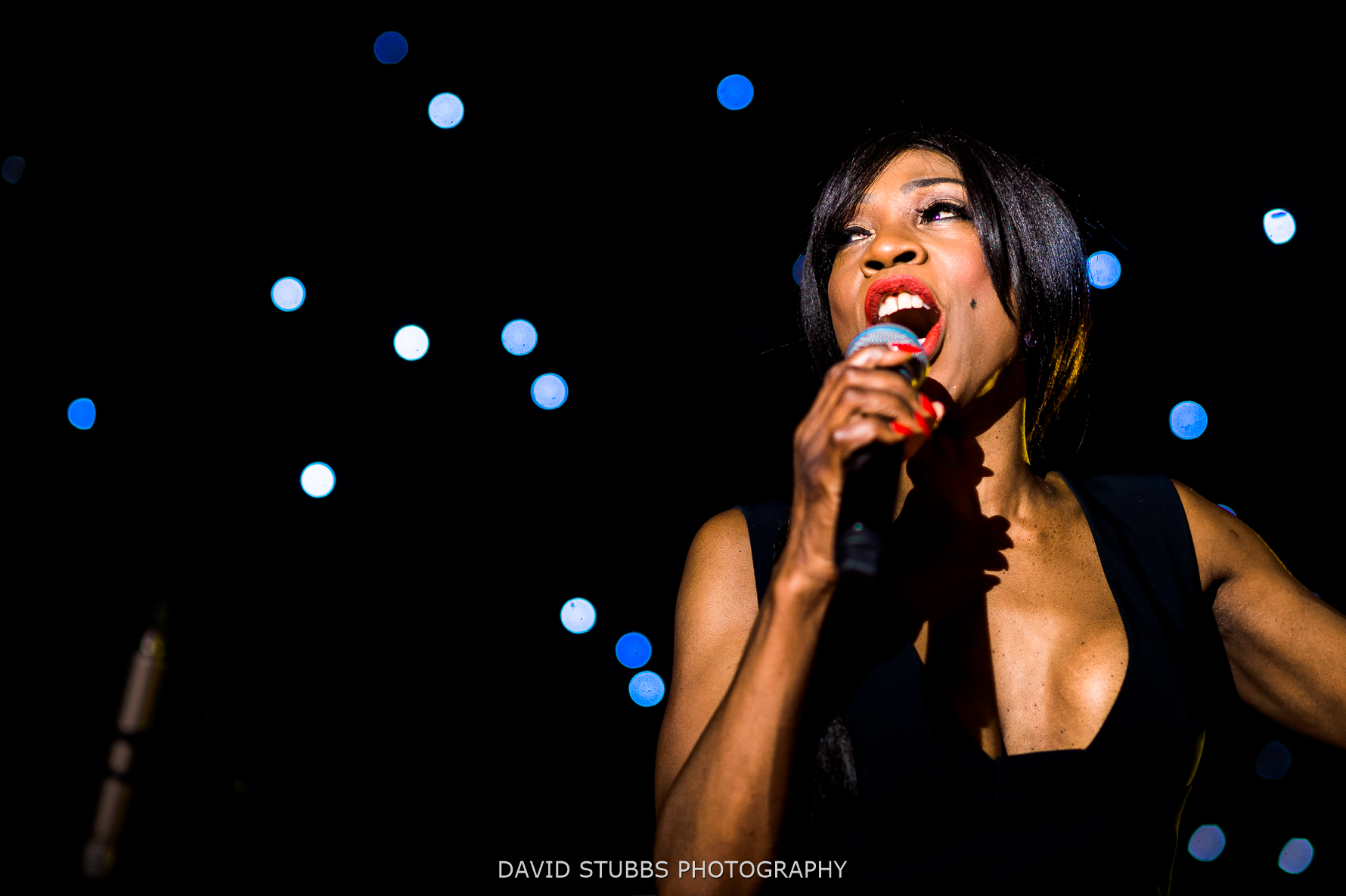 heather small performing at wedding