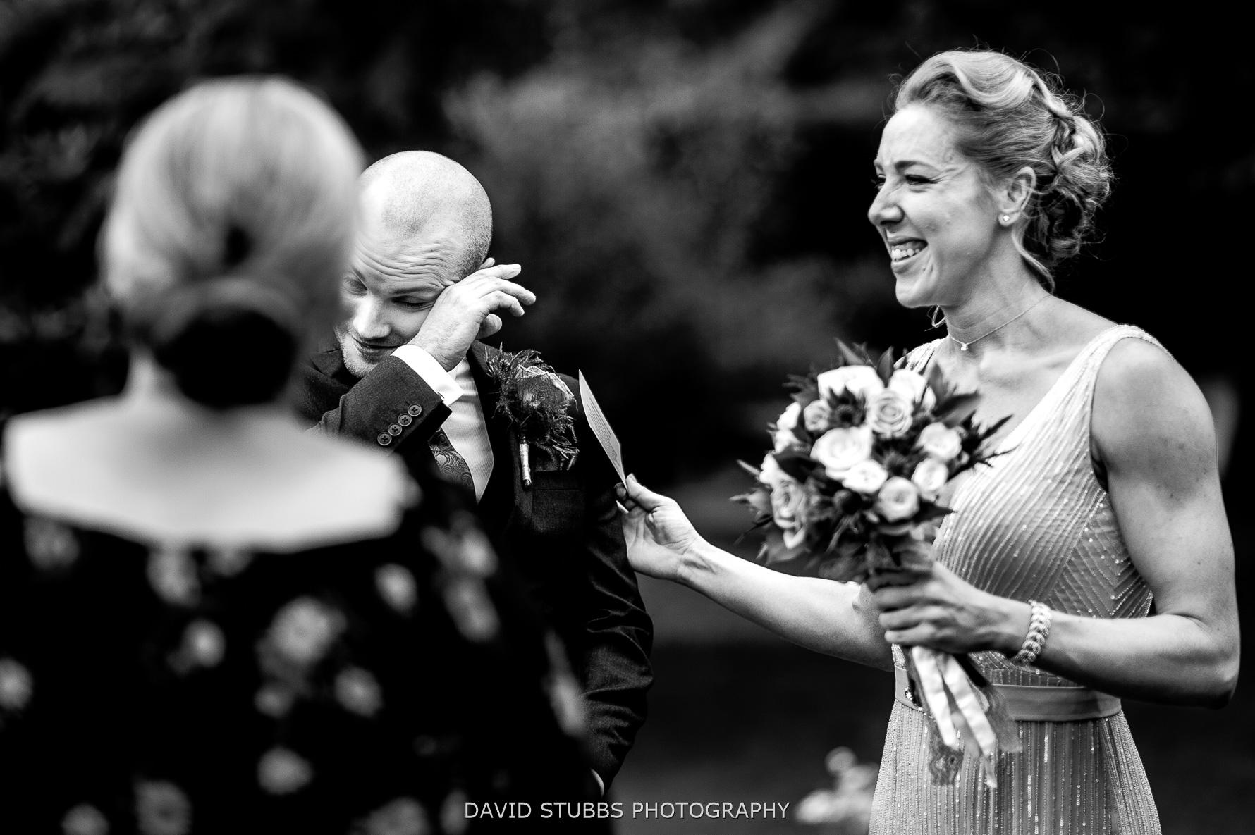groom emotional vows