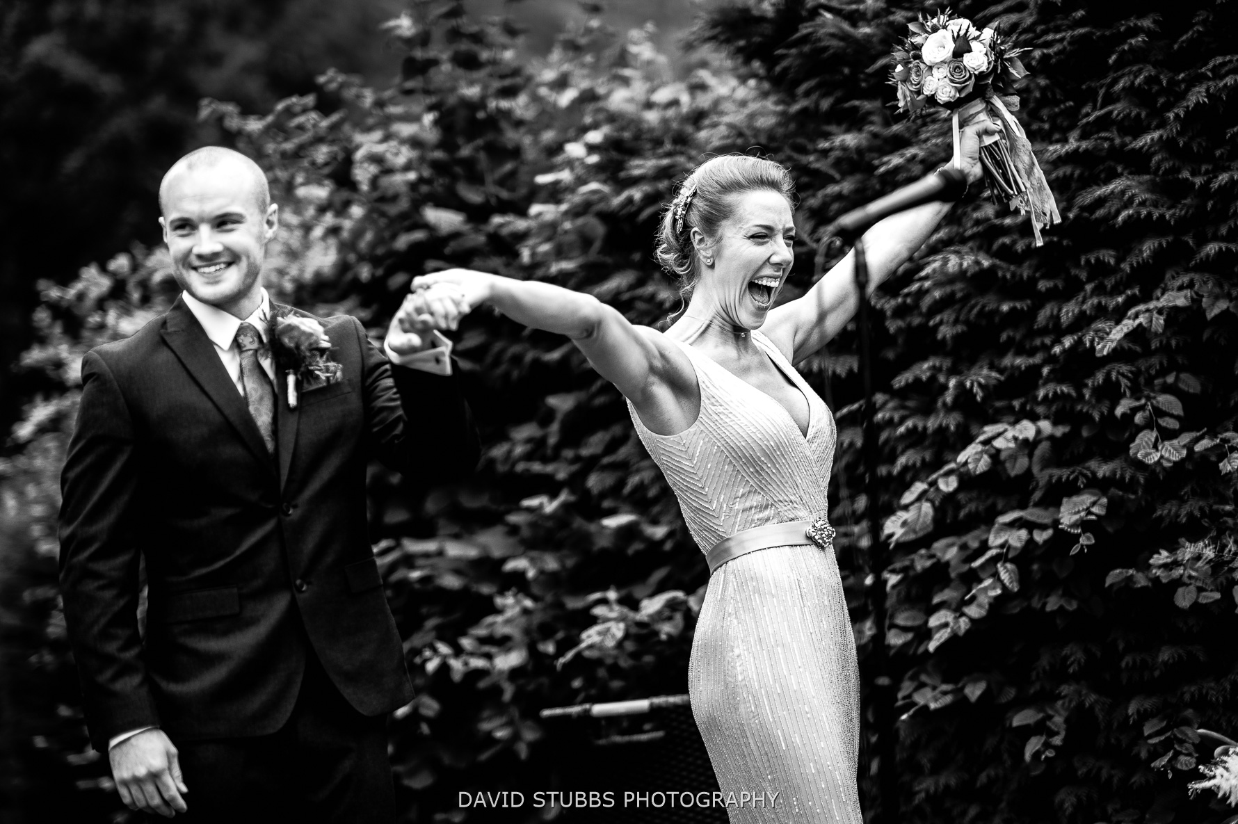 celebrating wedding at New Dungeon Ghyll