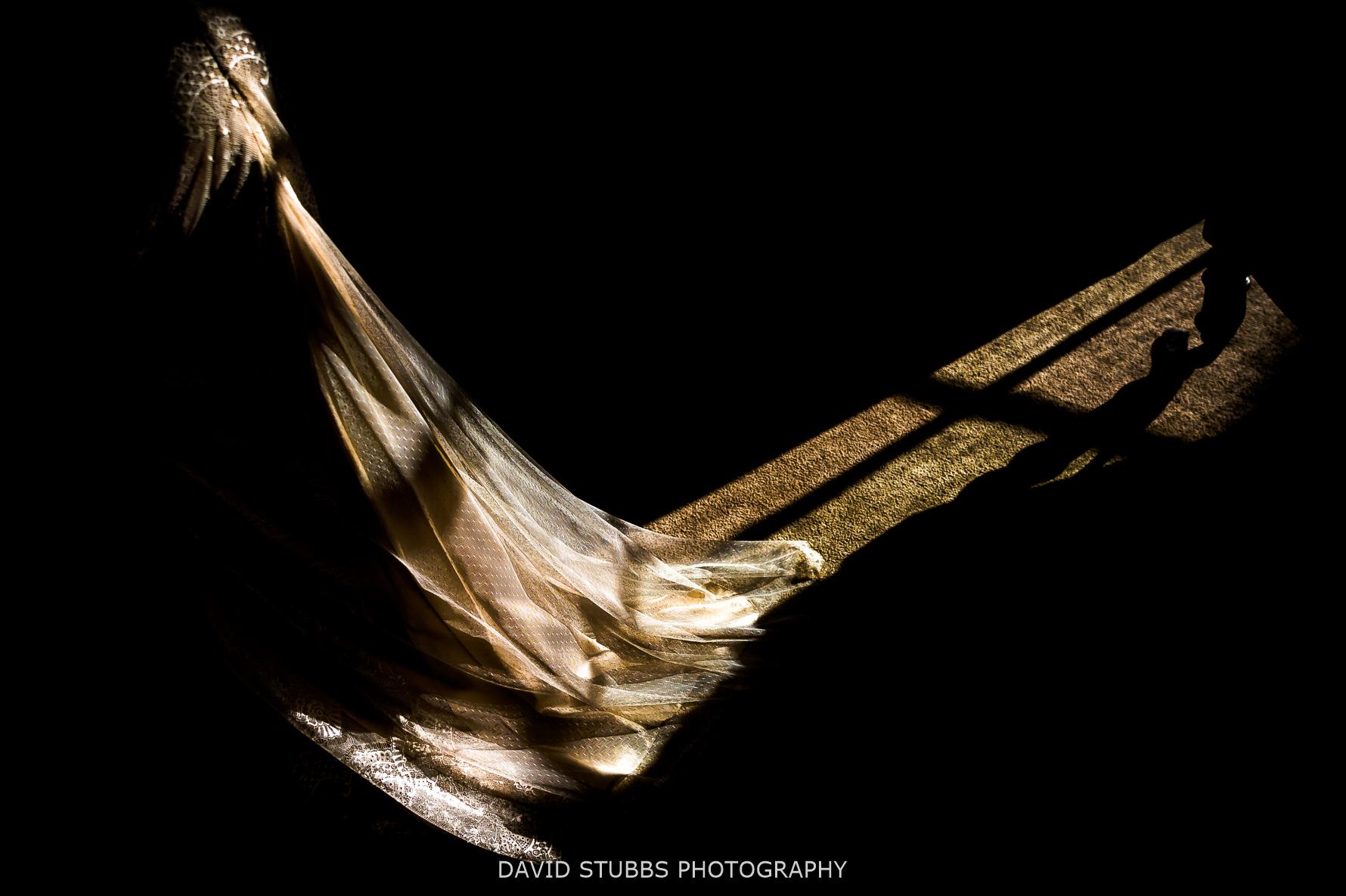 light on dress on floor