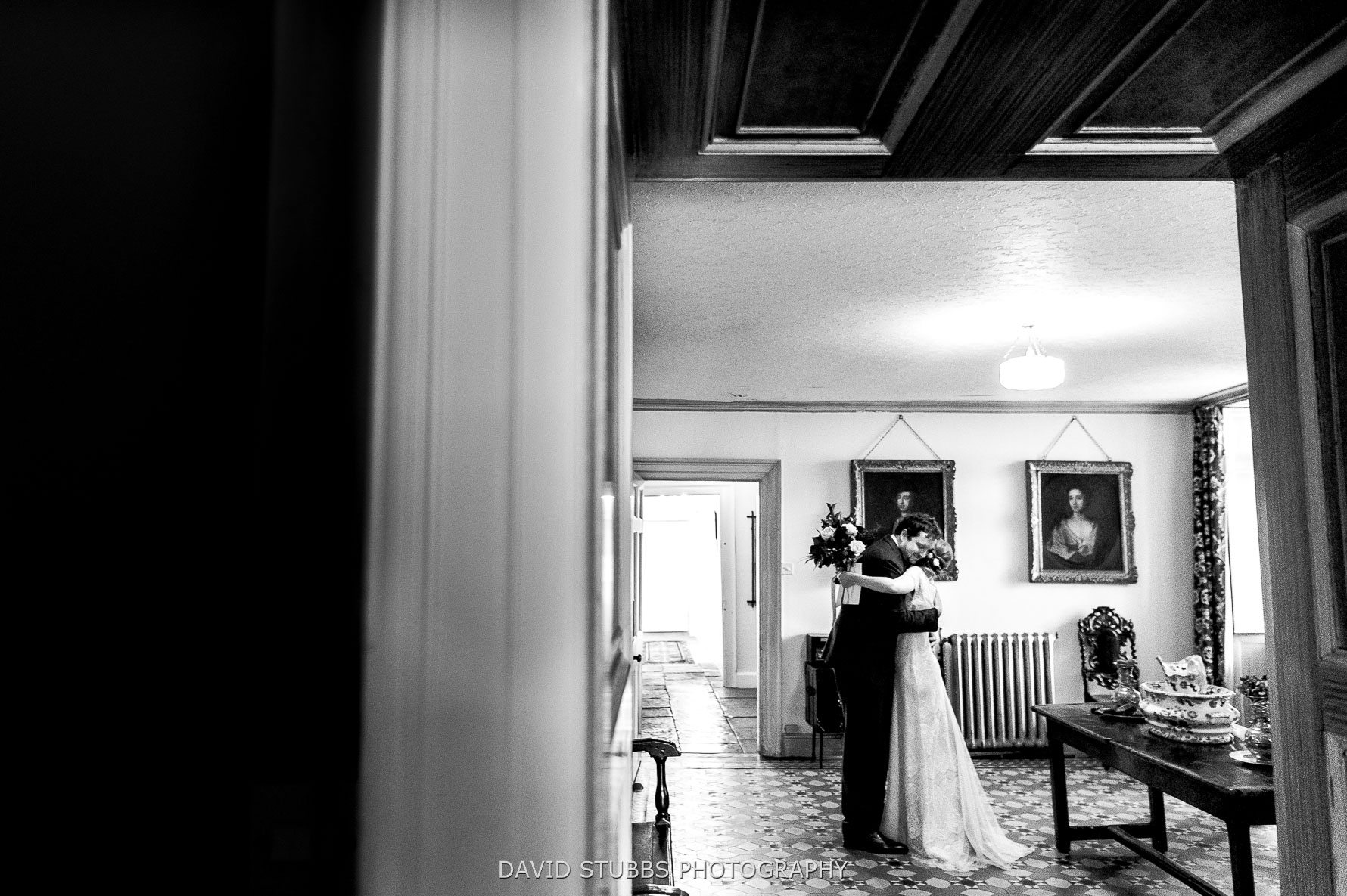 congratulations after wedding ceremony in Pennard House