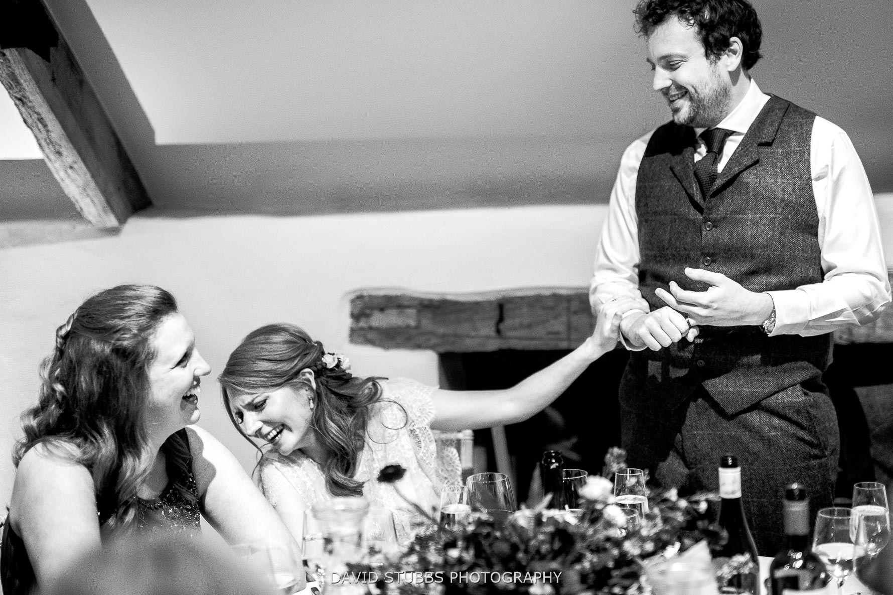 groom talks about bride during his speech