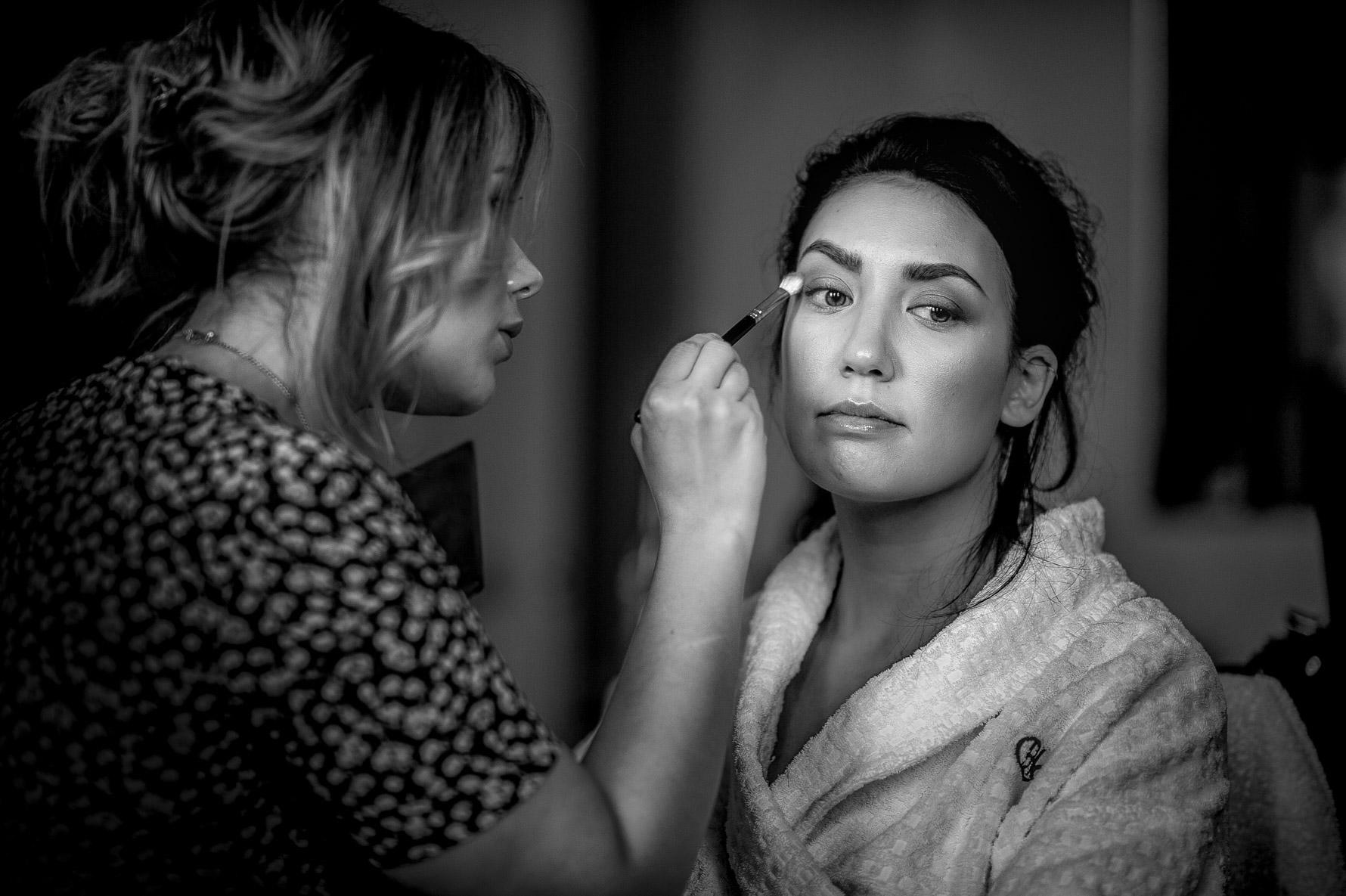 make up applied