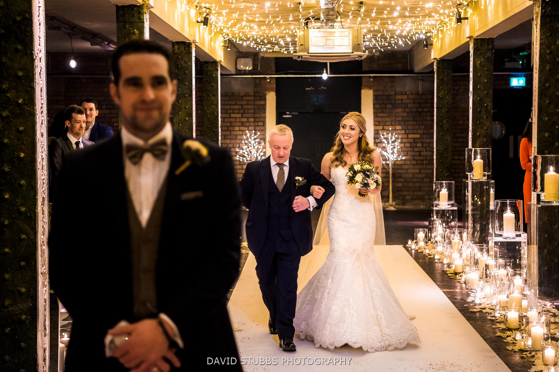 walking down the isle to be married