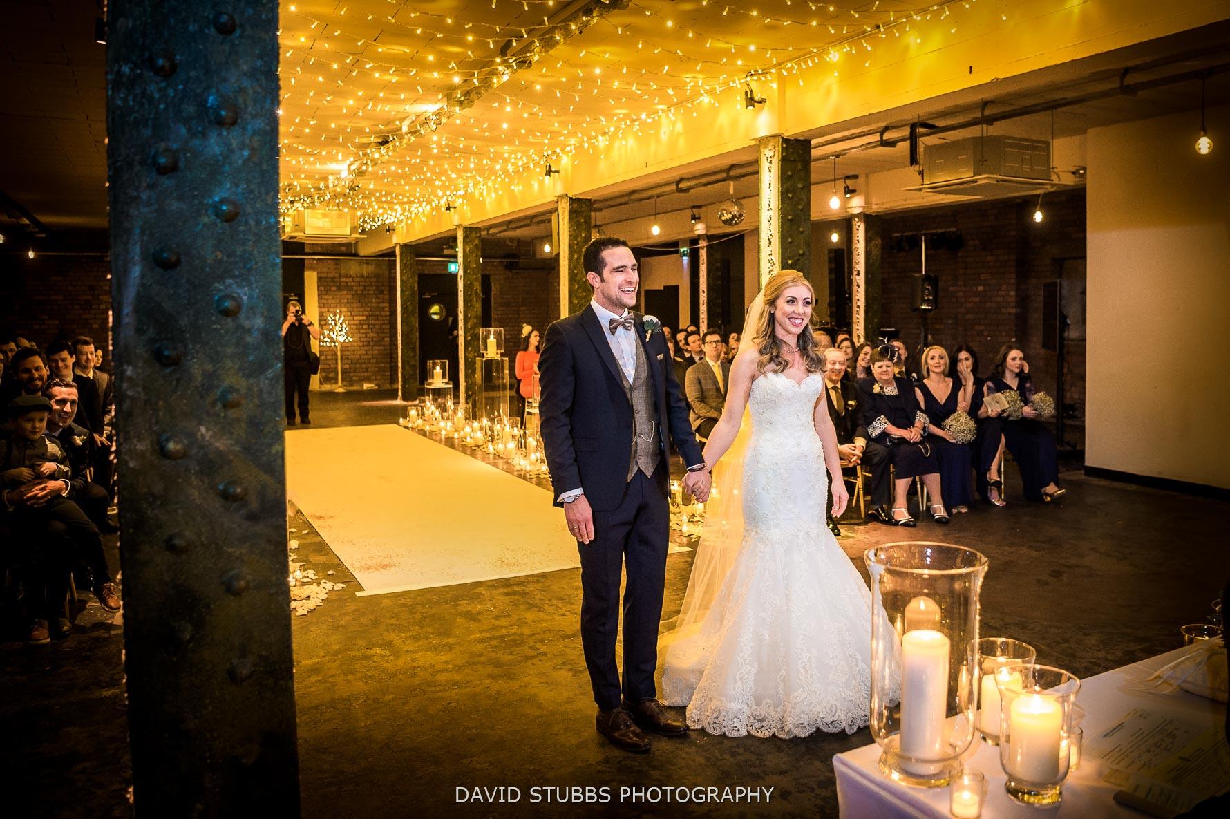 wedding photography at victoria warehouse