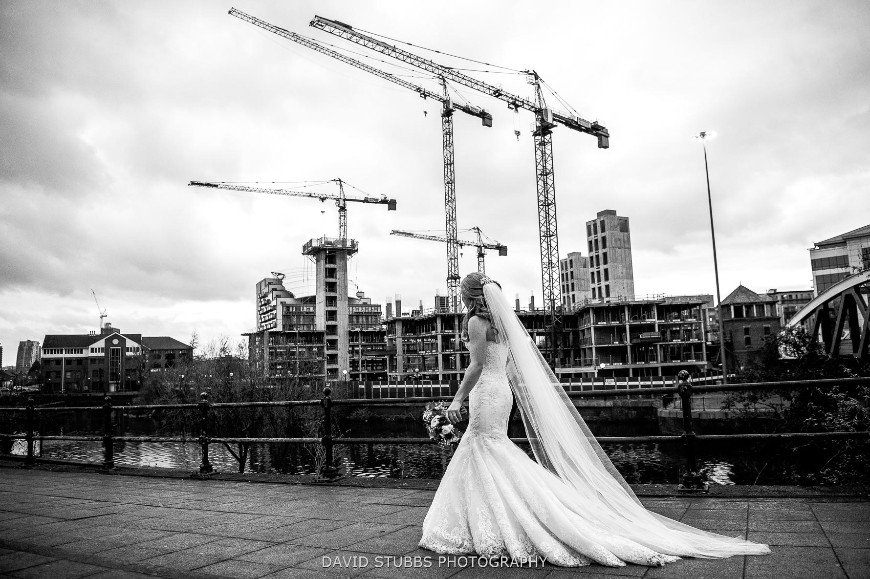 urban photography with crains in manchester