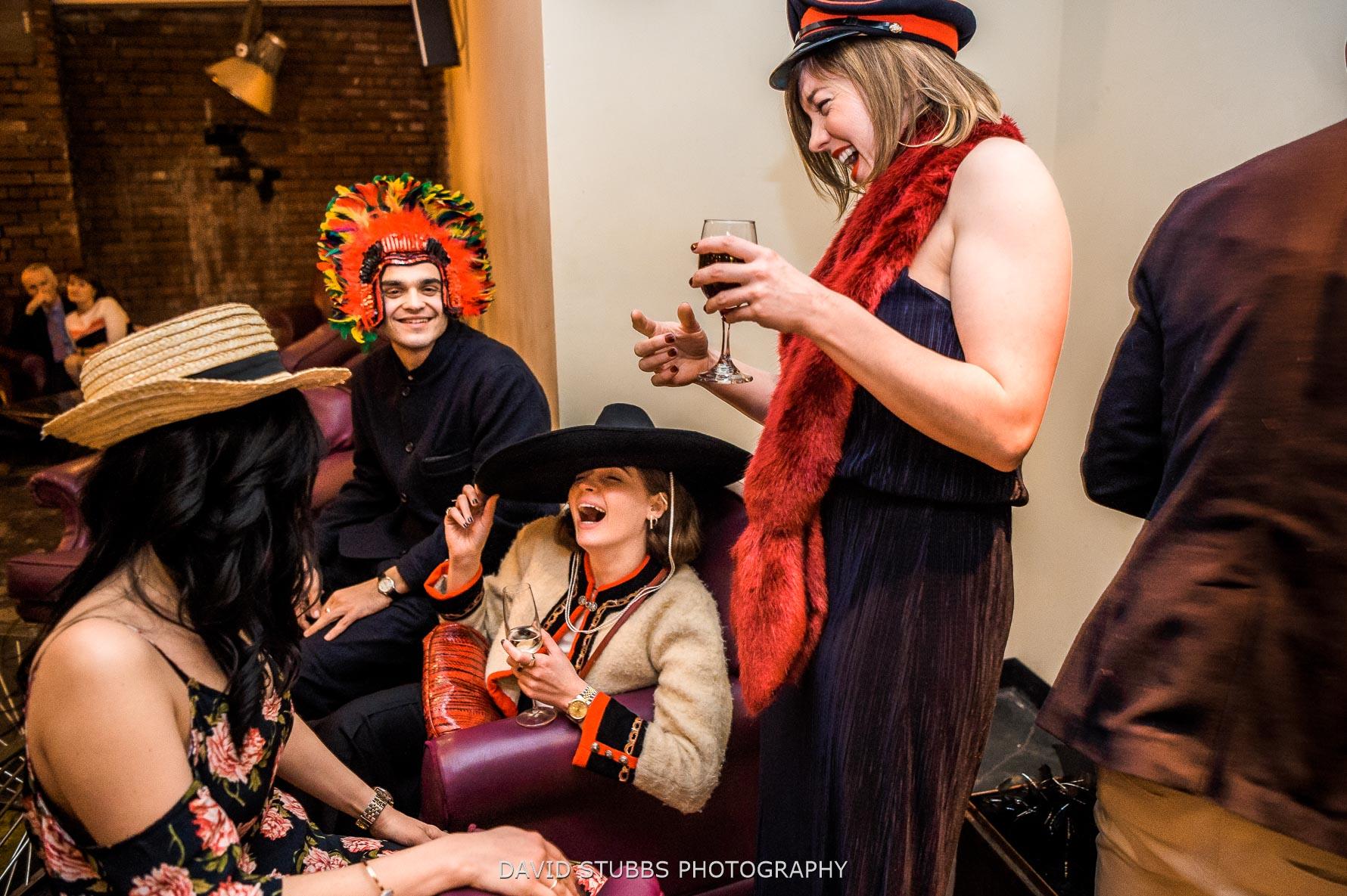 guests dress up as fancy dress