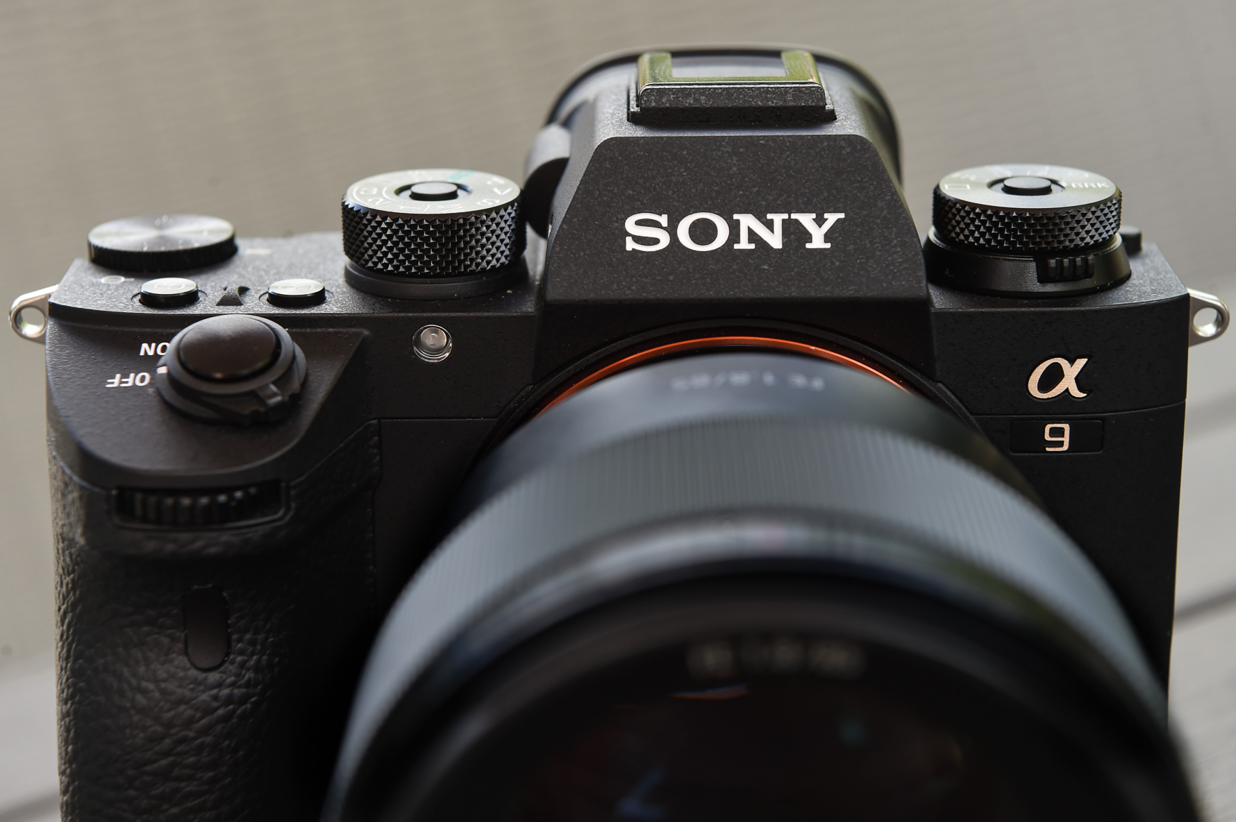 photo of front of sony a9 for review