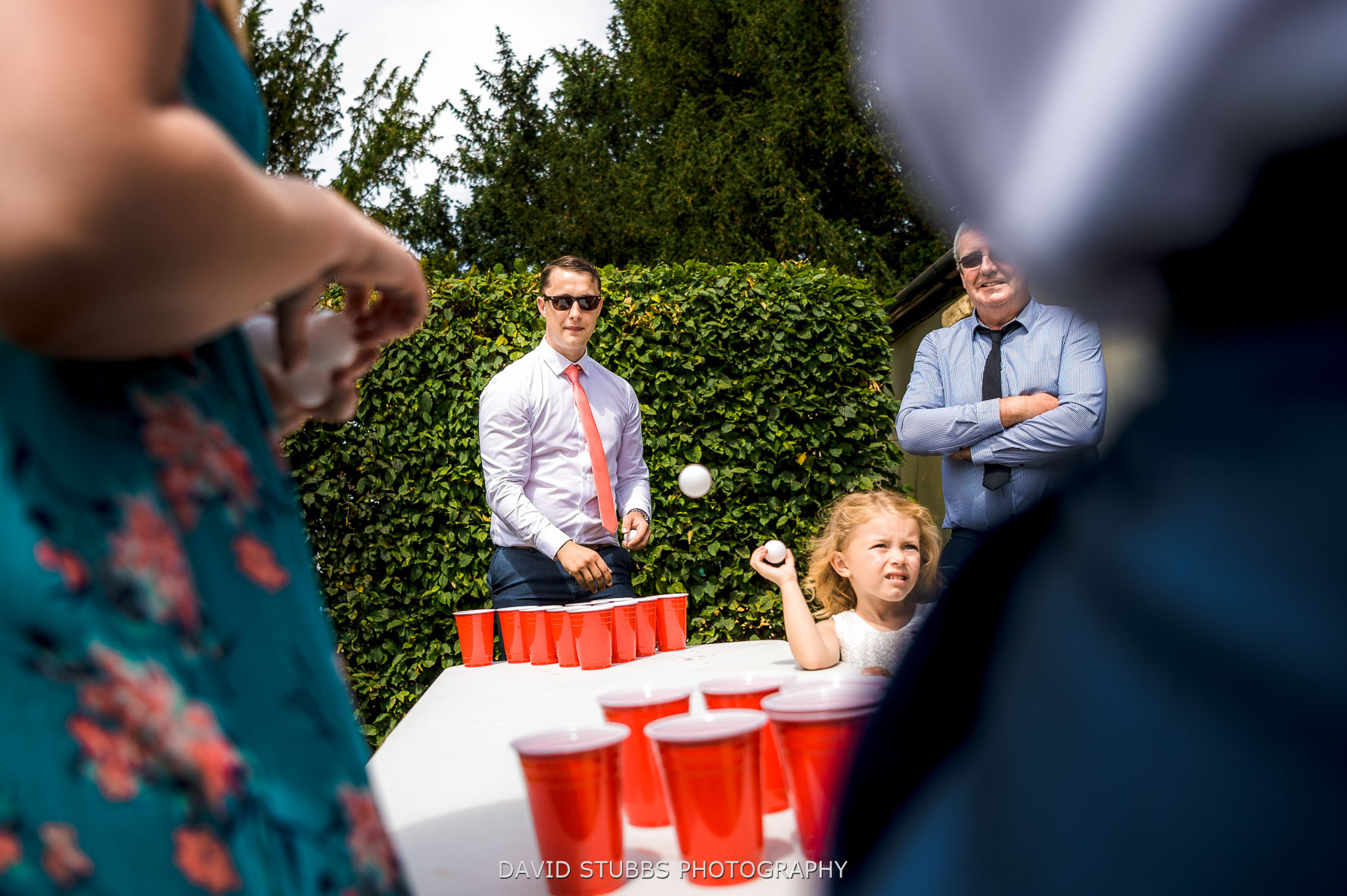 beer pong match with warm beer