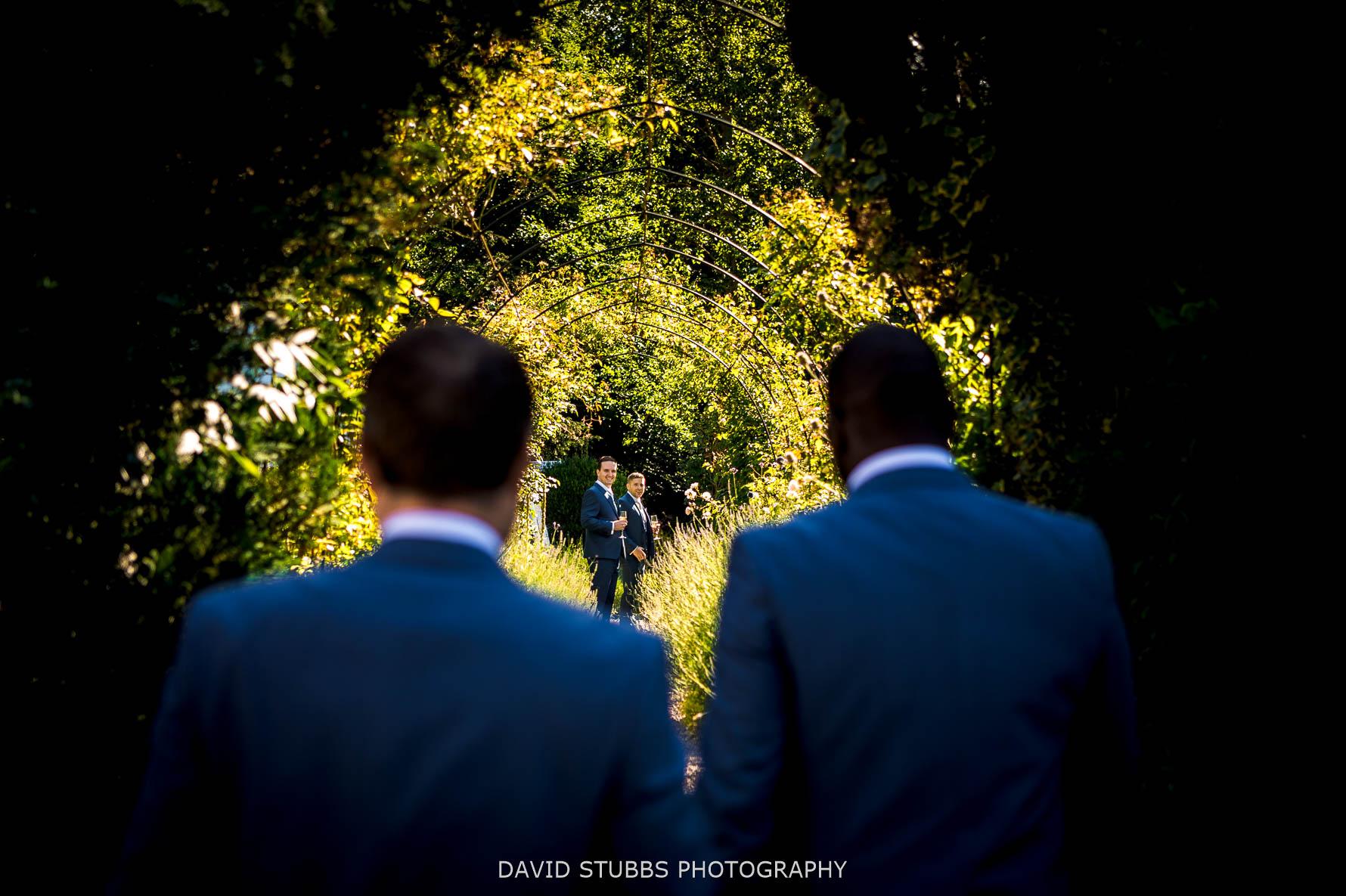 groomsmen before ceremony at normanton