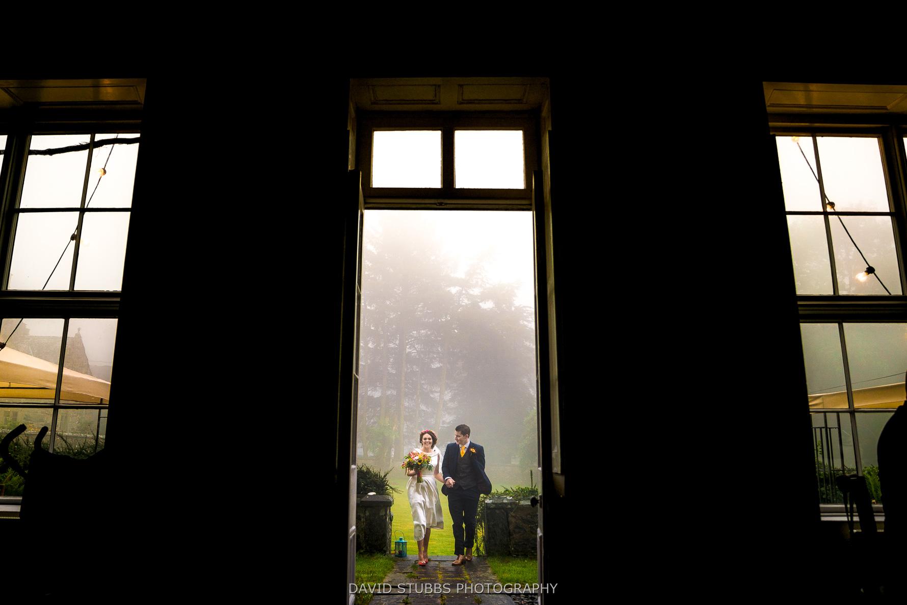 framed in doorway for entrance