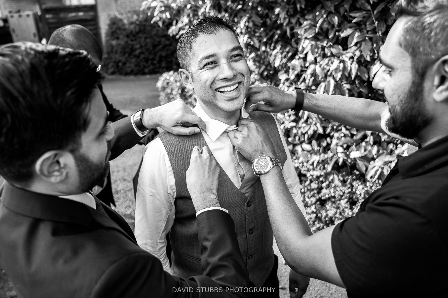 just before the wedding photography
