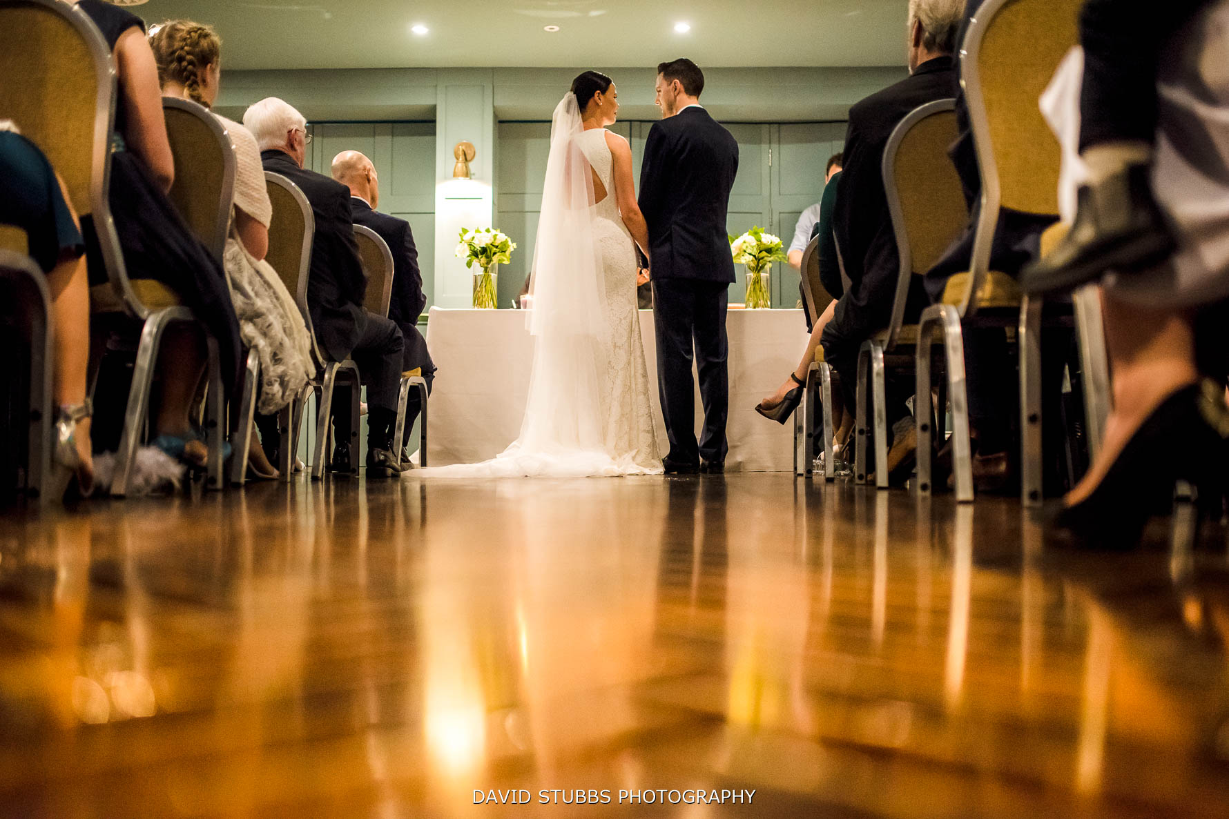 wedding ceremony from the back