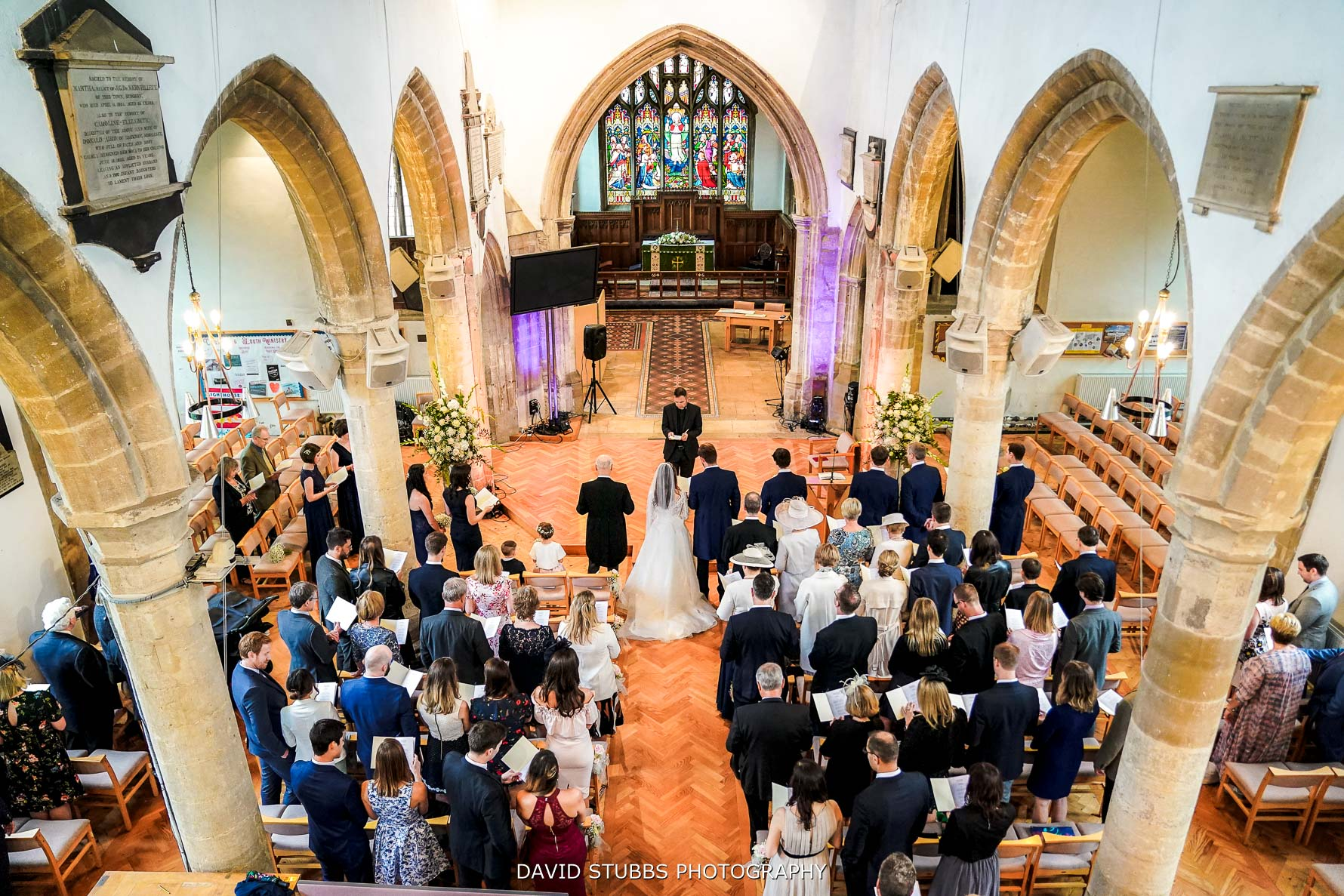 wide view of the church for marriage